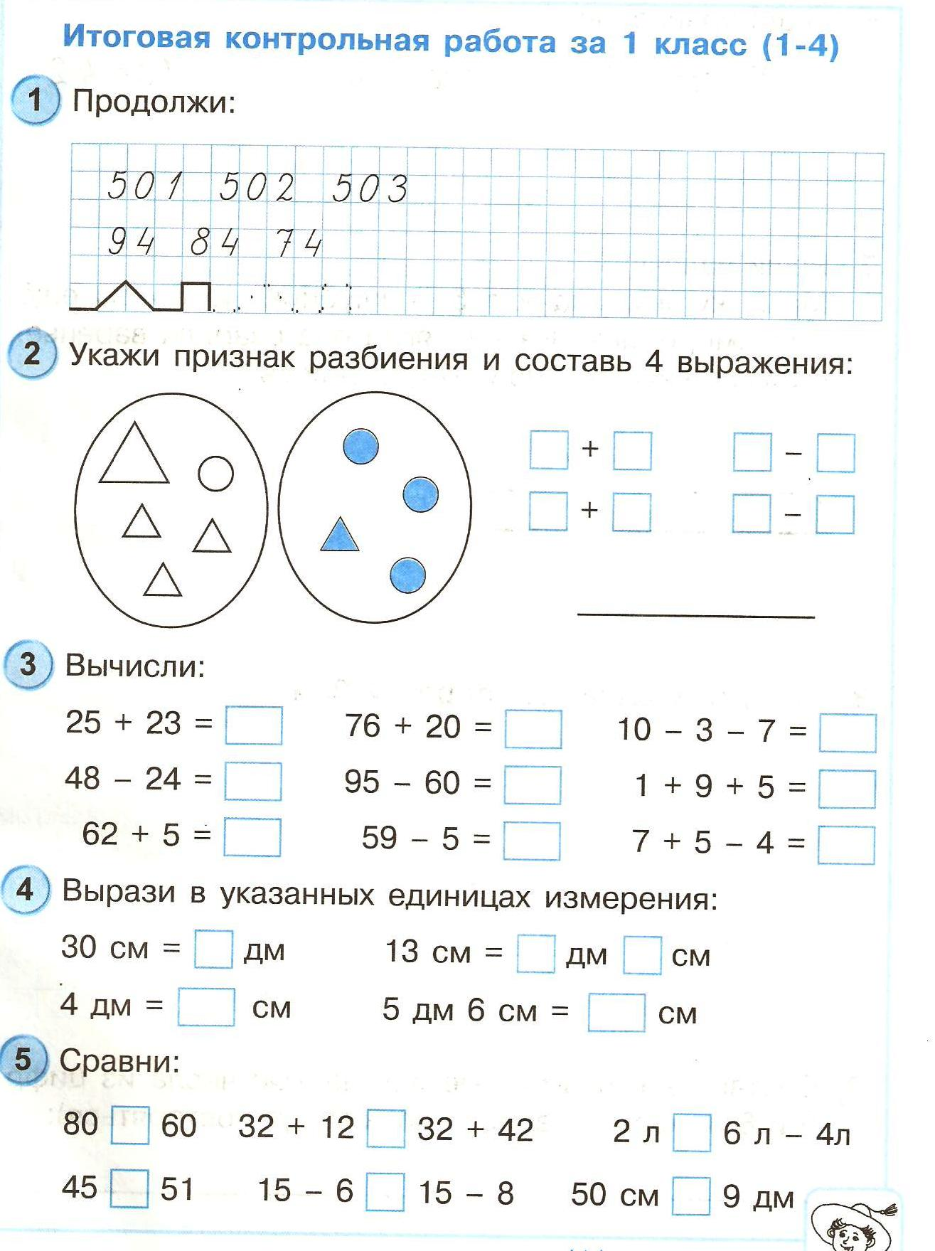 Контрольные работы по математике за класс Перспектива Перспектива математика контрольные работы